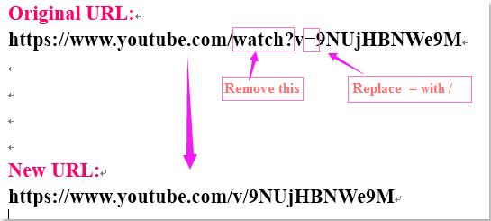 doc invoegen youtube video 1