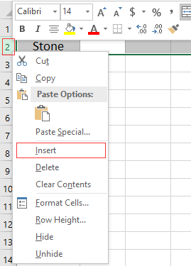How to keep merged cells while inserting a new row in Excel sheet?