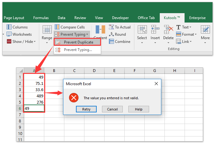 How to limit cell entry to numeric value or a list in Excel?
