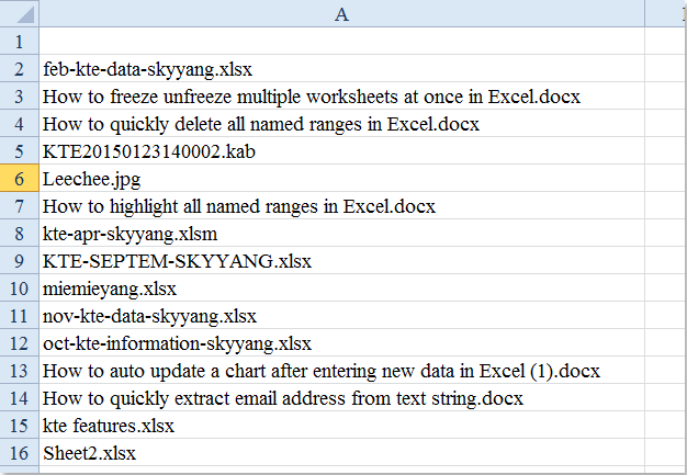 doc list files in folder subfolder 4