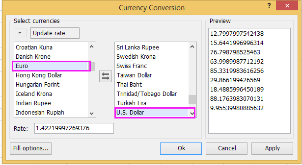 See Screenshot Doc Live Exchange Rate 3