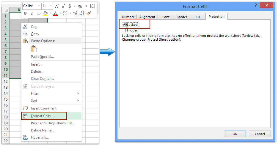 how to lock editing in excel