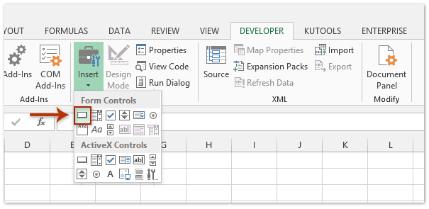 How to insert a macro button to run macro in Excel?