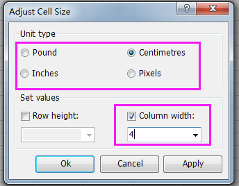 doc maximize column width 10