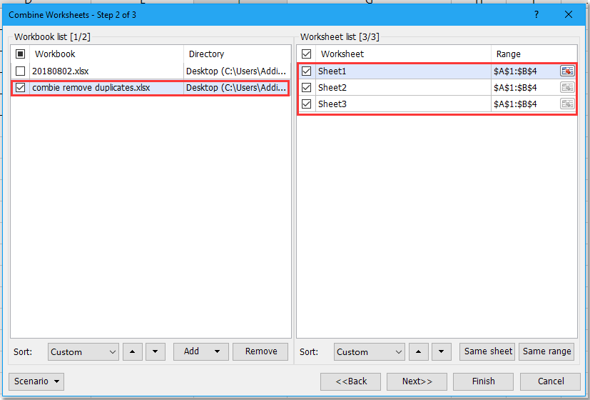 doc merge sheets into one remove duplicates 10