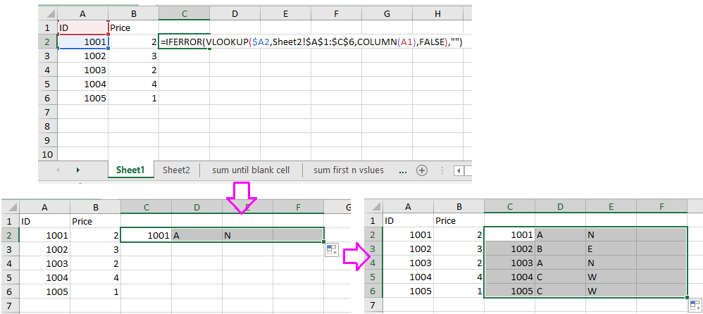 doc merge tables by a column 3