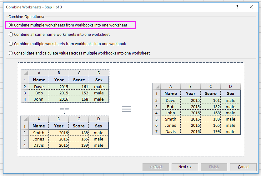doc merge tables by a column 7