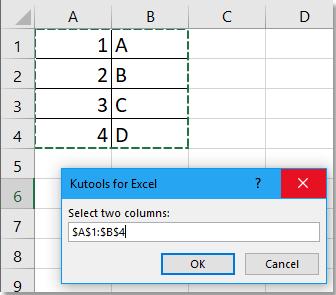 doc将两列合并为一列,交替值为2