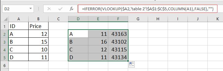 doc merge update table 2