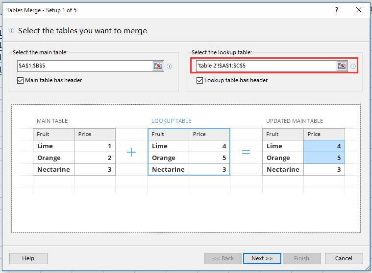 doc merge update table 5