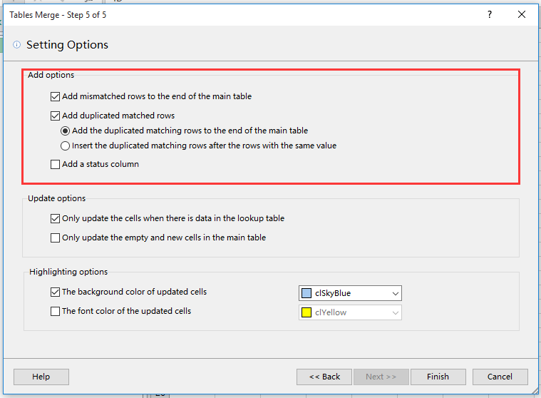 doc merge update table 9