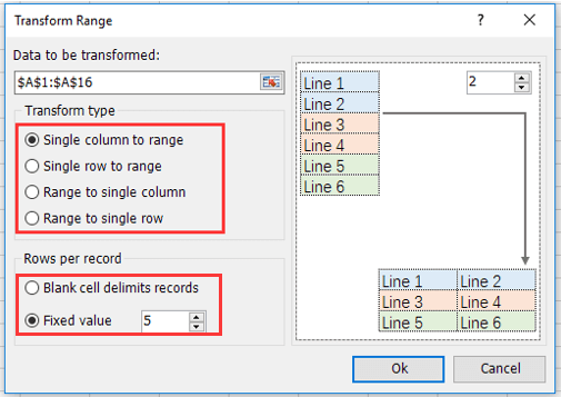 doc move data from column to row 4