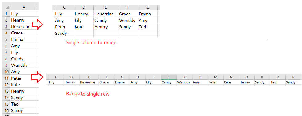 doc move data from column to row 6