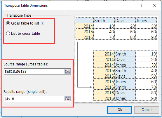 doc move data from column to row 9