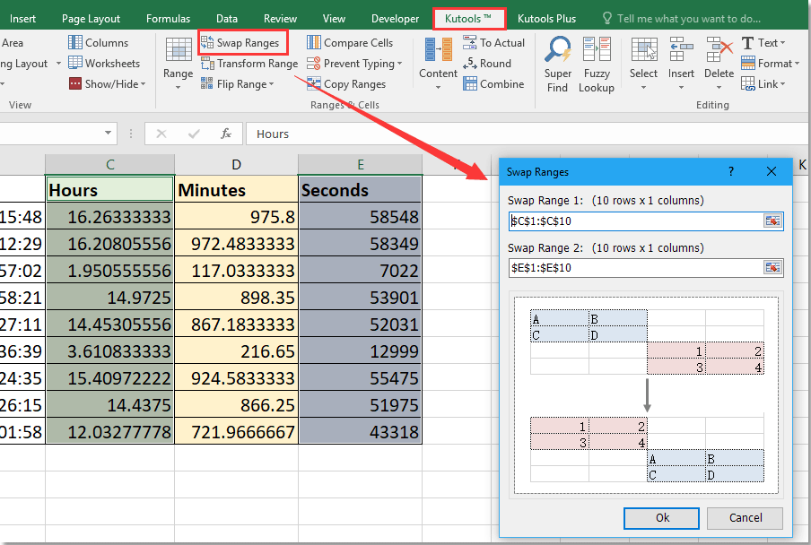 How To Move Row Updown Or Column Leftright In Excel