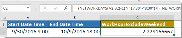 doc net work hours 7