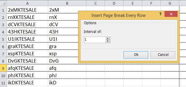 doc insert page break every row