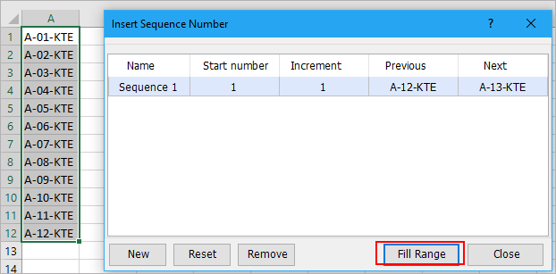 How to auto number a column in Excel?