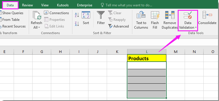 How to only allow certain values input or enter in Excel?
