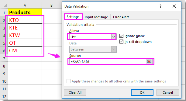 doc only allow certain value input 3