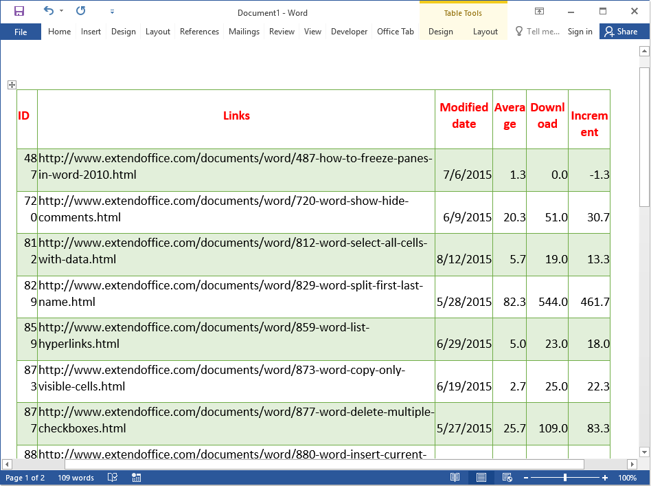 How To Paste Excel Table To Word And Make Table Content Fit To Page