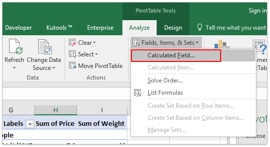 How to weight data in excel