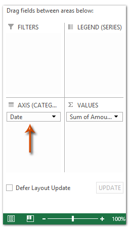 How to change/edit Pivot Chart's data source/axis/legends in