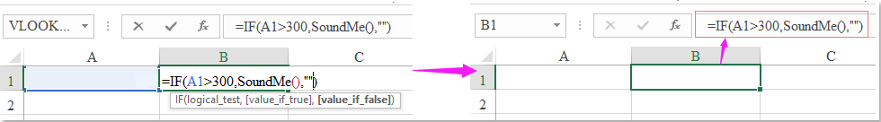 How to play a sound if a condition is met in Excel?