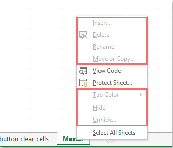 How to prevent from changing sheet name in Excel?