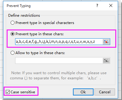 doc prevent lowercase 6