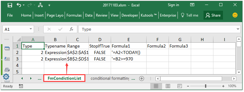 How to print all conditional formatting rules in a worksheet?