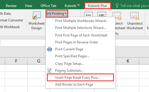 doc print x row per page 10