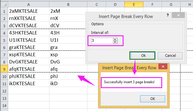 doc print x row per page 8