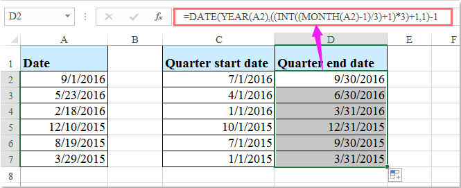 doc quarter start date 3