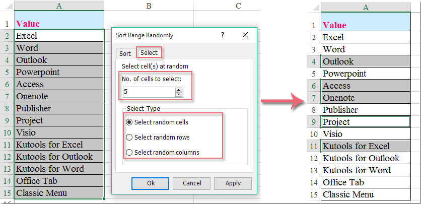 How to select random data from a list without duplicates?