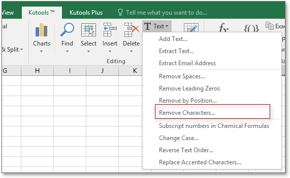 doc kutools remove characters 1