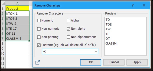 doc kutools remove characters 4