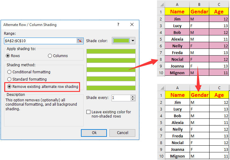 How to quickly remove conditional formatting in Excel?