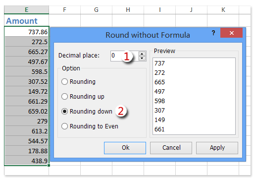 How to remove digits after decimal in Excel?