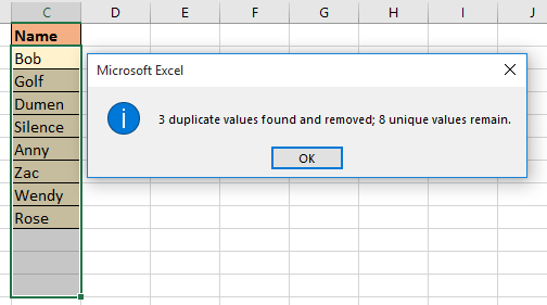 doc remove duplicate keep one 3