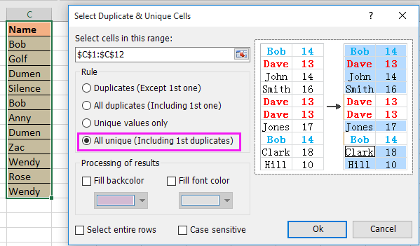 doc remove duplicate keep one 8