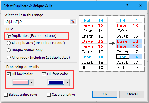 doc remove duplicates keep blanks 8