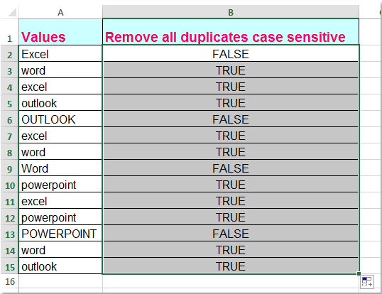 doc remove case sensitive 5