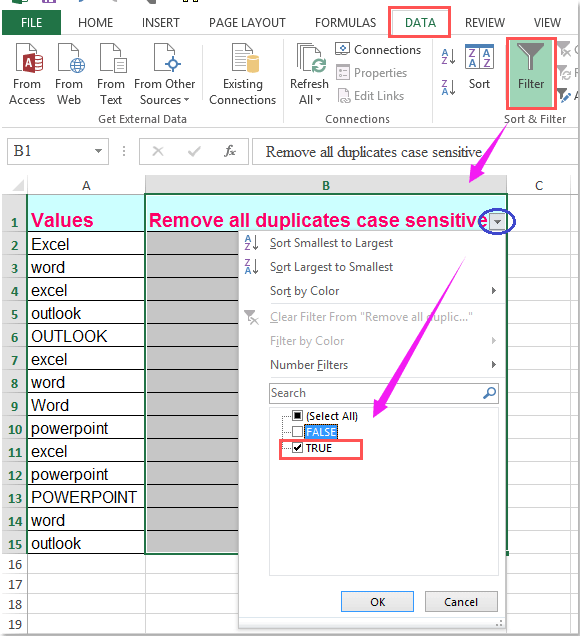doc remove case sensitive 6