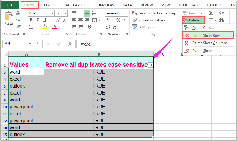 doc remove case sensitive 7