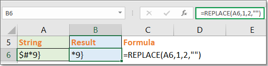 How to remove first or last n characters from a cell or string in Excel?