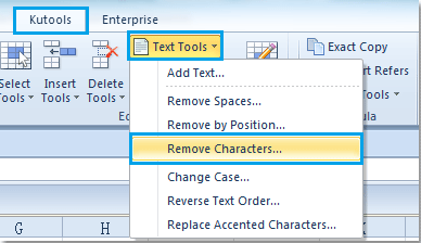 How to quickly remove line breaks in Excel?