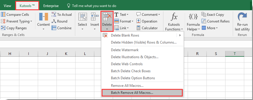 how to remove all macros in excel