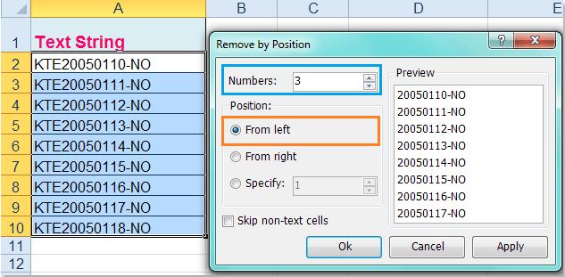 doc verwijder prefix 6