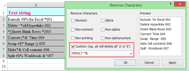 doc remove special characters 4